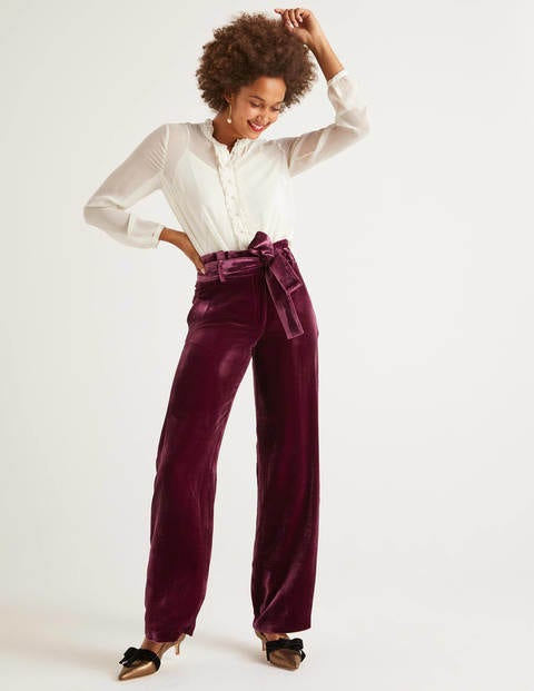 Haverhill Samthose Purple Damen Boden