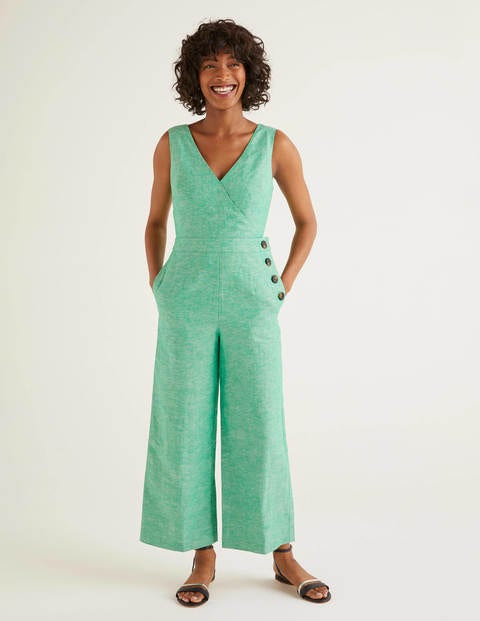 Dorothea Wickel-Jumpsuit Green Damen Boden