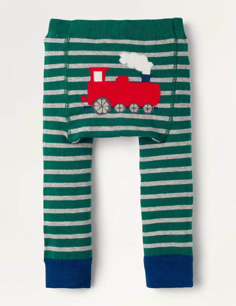 Strick-Leggings Green Baby Boden