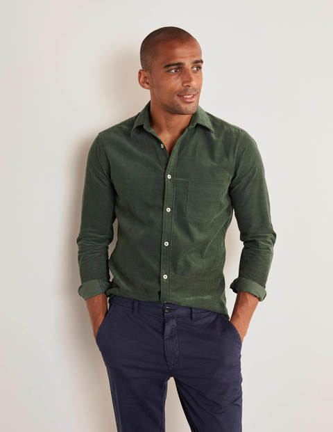 Cordhemd Washed Emerald Green Herren Boden