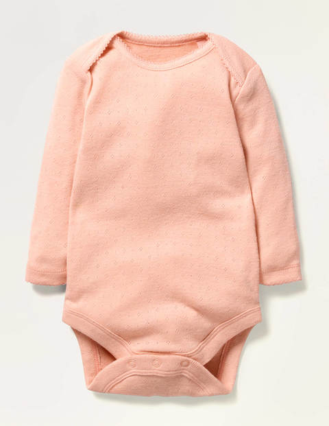 Pointelle-Body Pink Baby Boden
