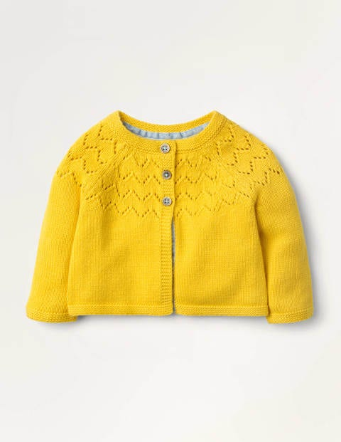 Bequemer Cardigan Yellow Baby Boden