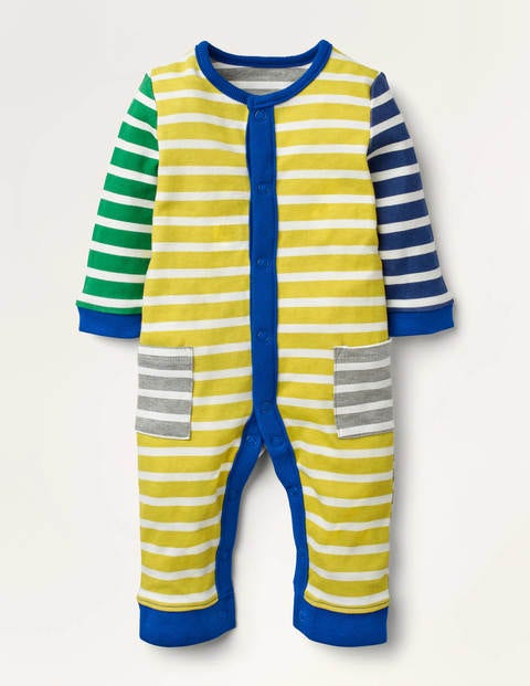 Strampler mit Mustermix Yellow Baby Boden