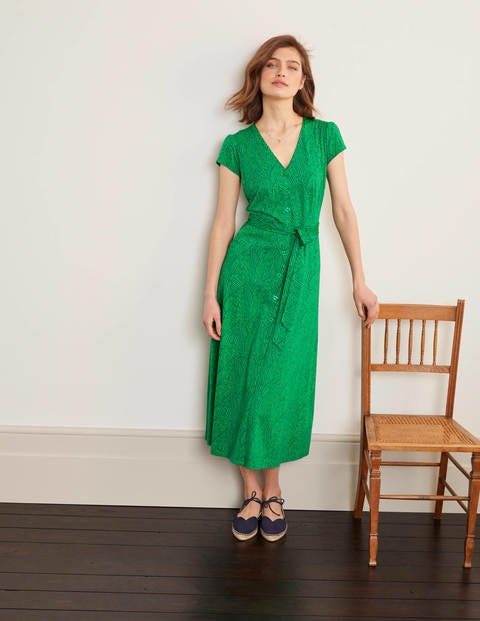 Frances Midikleid aus Jersey Green Damen Boden