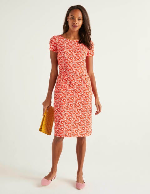 Phoebe Jerseykleid Orange Damen Boden