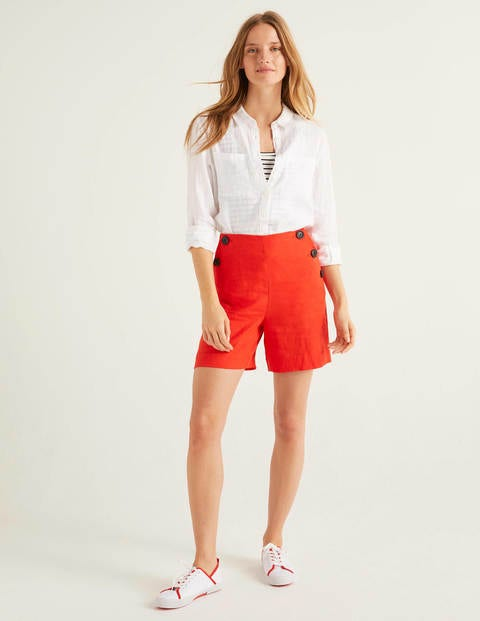 Falmouth Leinenshorts Orange Damen Boden