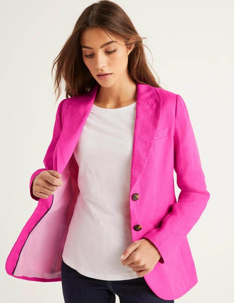 Carrington Leinenblazer Pink Damen Boden