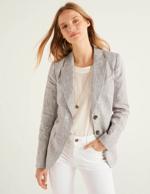 Carrington Leinenblazer Navy Damen Boden