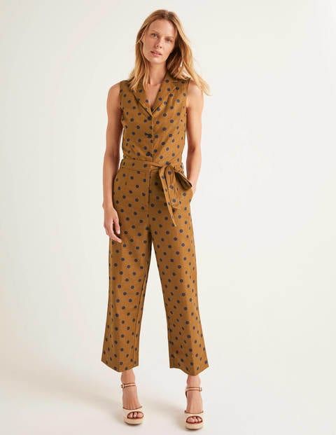 Evie Jumpsuit mit Kragen Brown Damen Boden