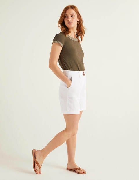 Filey Shorts mit Taschennaht White Damen Boden