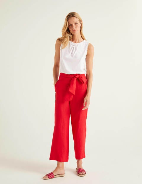 Weymouth Leinenhose Red Damen Boden