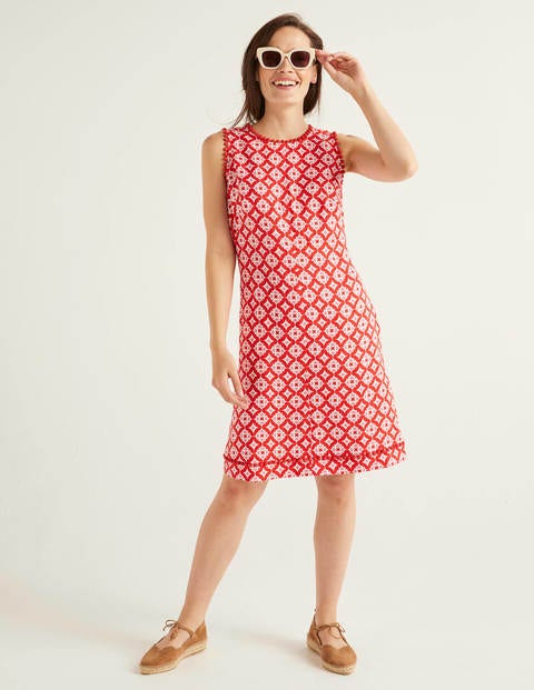 Romaine Leinenkleid Red Damen Boden