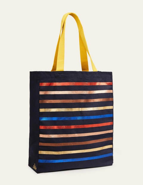 Gemusterter Shopper Navy Damen Boden