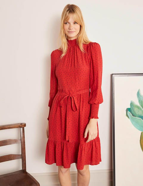 Carrie Smokkleid Red Damen Boden