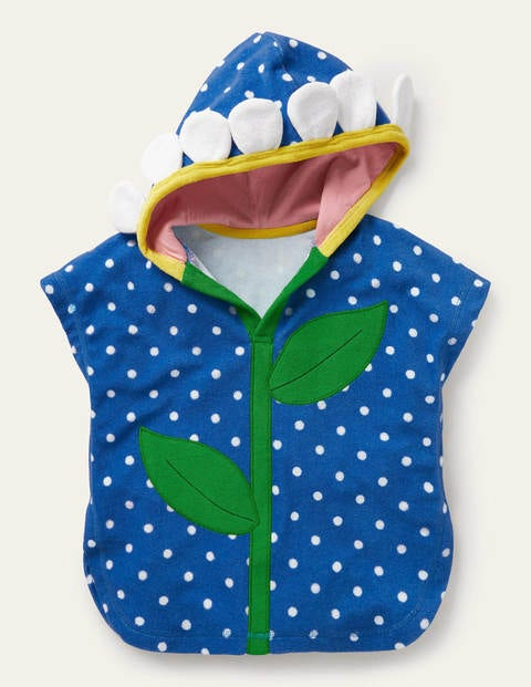 Frottee-Kapuzenponcho Blue Baby Boden
