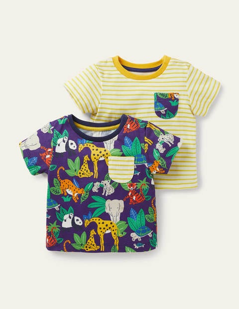 T-Shirts im 2er-Pack MUL Baby Boden