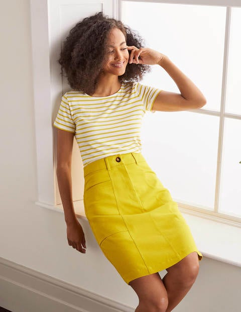 Abingdon Minirock Yellow Damen Boden