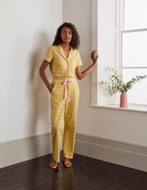 Phoebe Pyjamahose Yellow Damen Boden