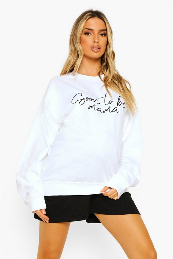 "Womens Umstandsmode Sweatshirt Mit ""Soon To Be Mama""-Print - Weiß - 36"