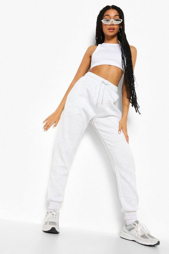 Womens Basic Jogginghose Regular Fit - Hellgrau - Xl