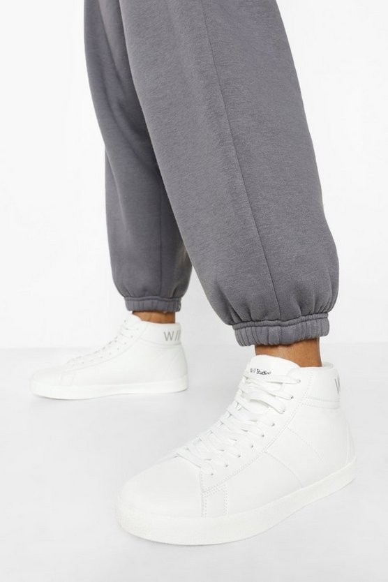 Womens Official High Top Trainers - White - 41