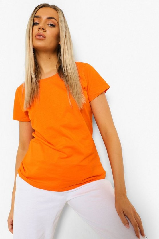 Womens Basic T-Shirt - Orange - 36