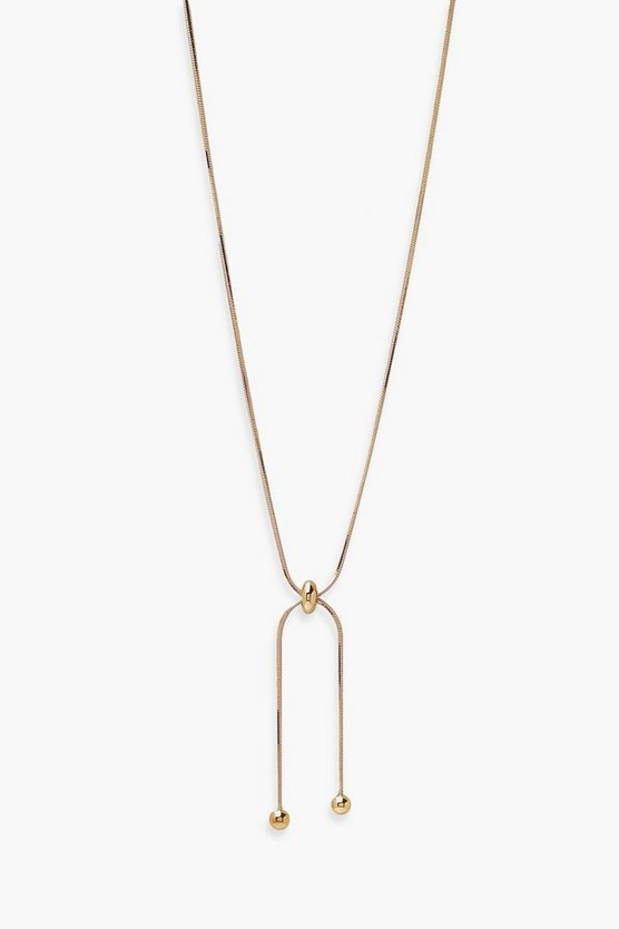 Womens Toggle Knot Drop Necklace - Gold - One Size