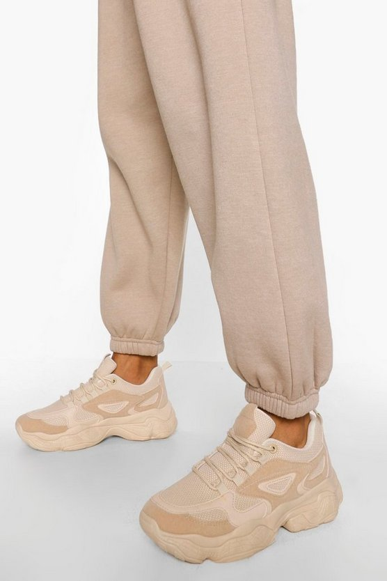 Womens Trainers Mit Robuster Sohle - Beige - 41
