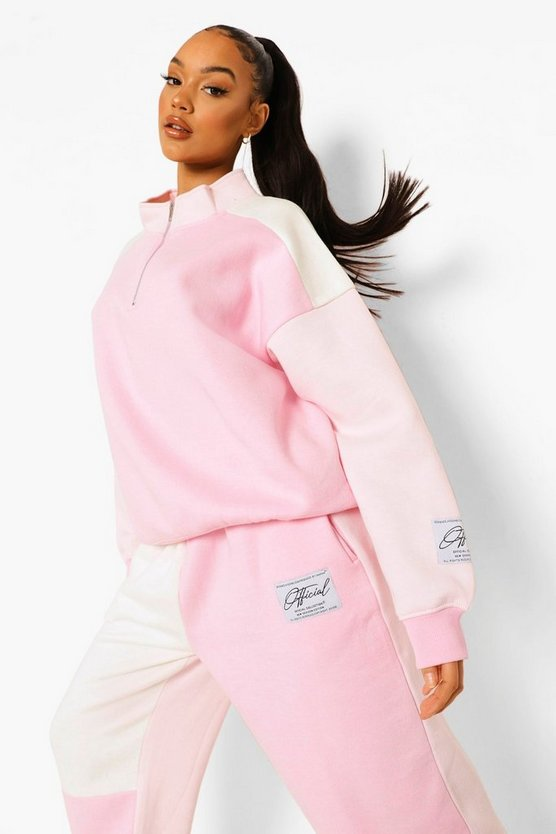 Womens Pullover Mit Colorblock