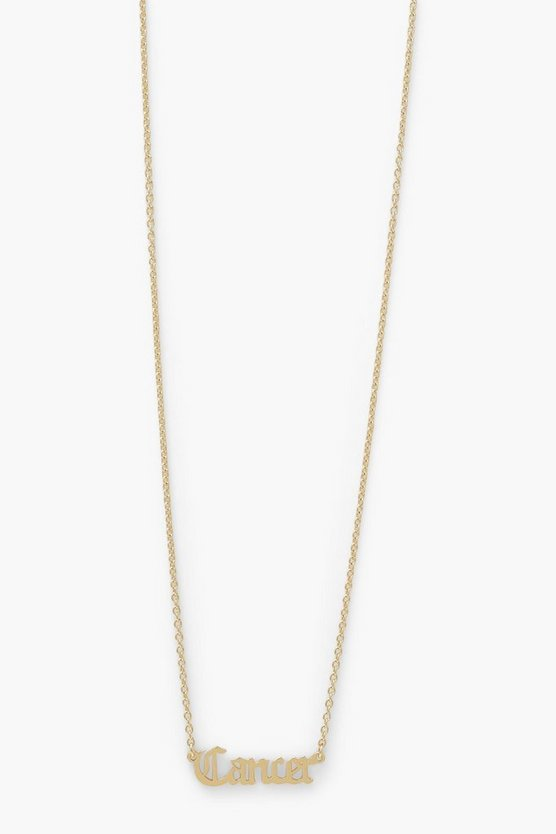 Womens Zodiac Cancer Necklace - Gold - One Size