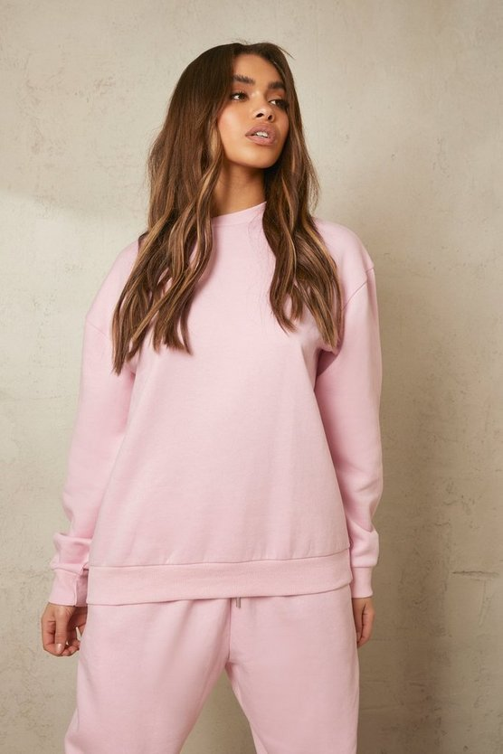 Womens Recycled Sweatshirt - Pale Pink - L