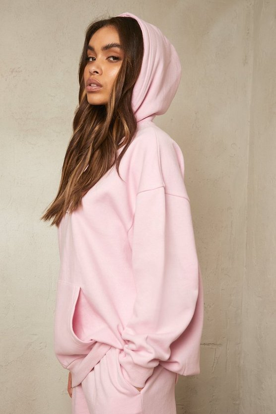 Womens Recycelter Oversize Hoodie - Pale Pink - M