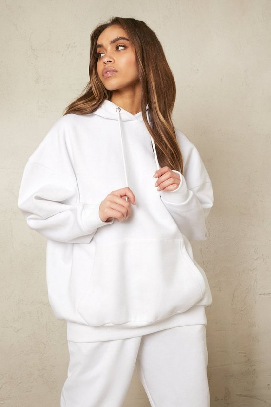 Womens Recycelter Oversize Hoodie - White - L