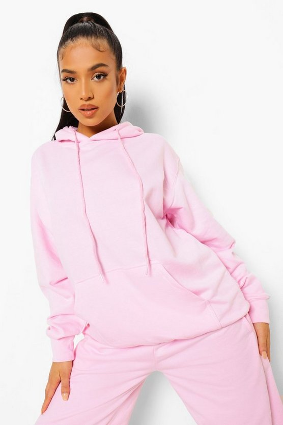 Womens Petite Official Studio Print Hoodie - Light Pink - M