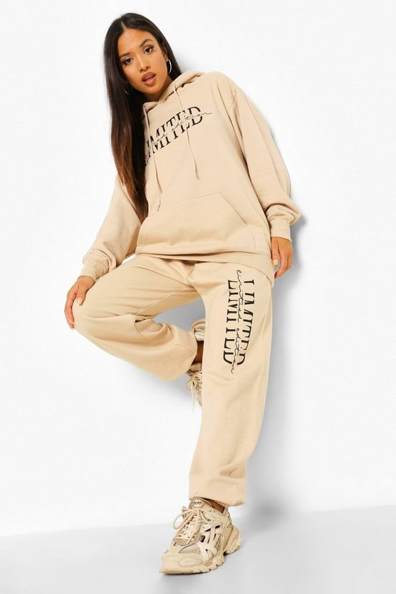 Womens Petite Limited Edition Printed Jogger - Sand - M