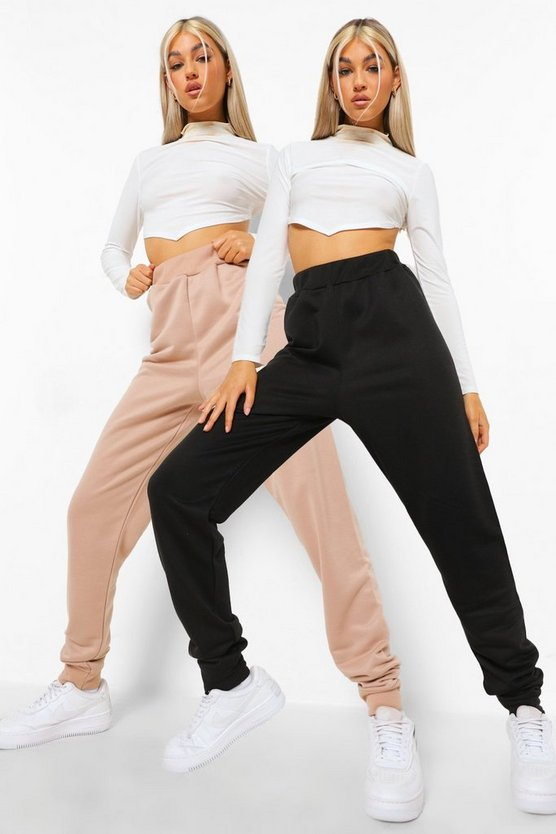 Womens Tall Basic Jogger 2 Pack - Stone - 42