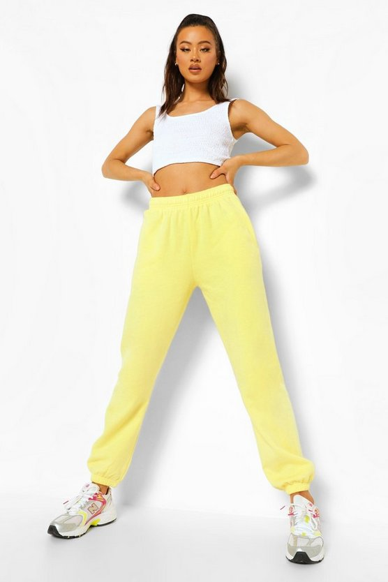 Womens Basic Jogginghose Regular Fit - Zitronengelb - Xl