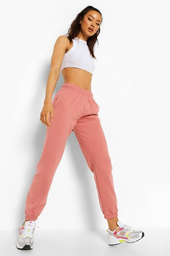 Womens Basic Jogginghose Regular Fit - Rosenrosa - Xl