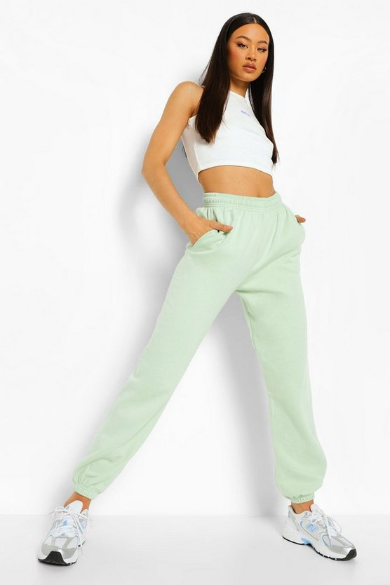 Womens Basic Jogginghose Regular Fit - Apfelgrün - Xl