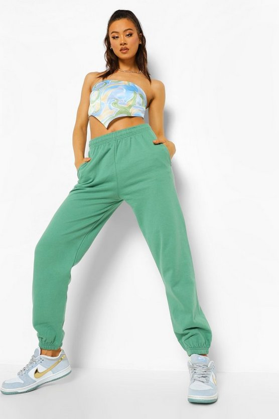 Womens Basic Jogginghose Regular Fit - Wald - M
