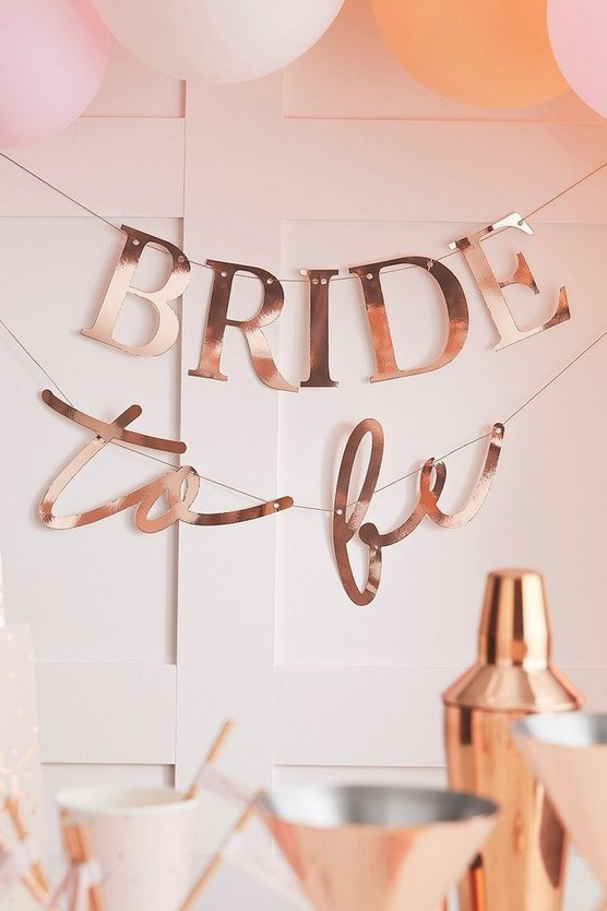 Womens Ginger Ray 'Bride To Be' Bunting - Rose Gold - One Size