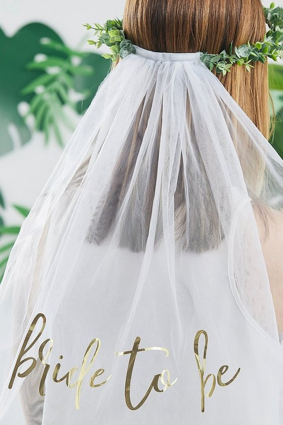 Womens Ginger Ray Eucalyptus Bridal Crown With Veil - White - One Size
