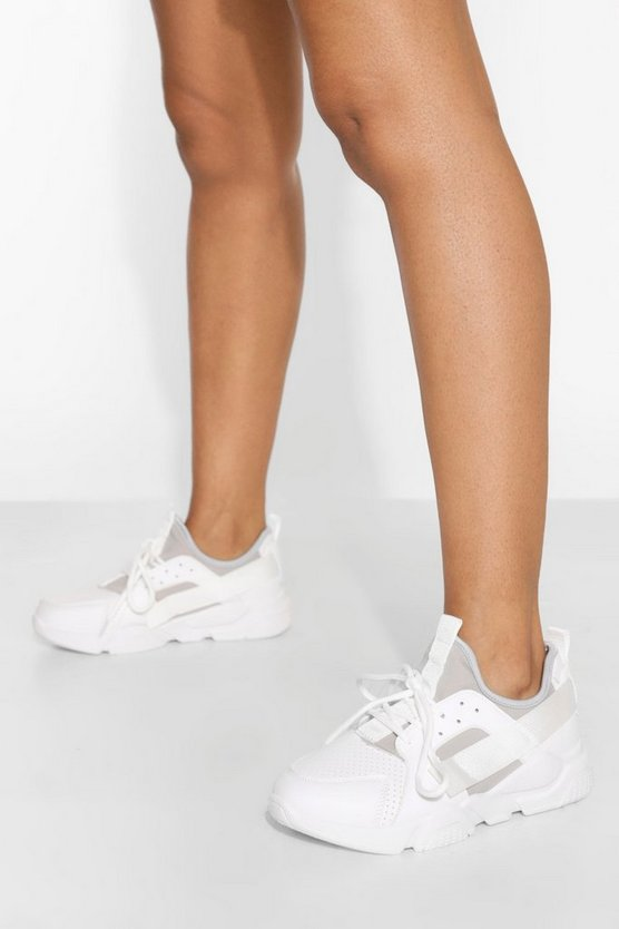 Womens Sporty Chunky Trainer - White - 40
