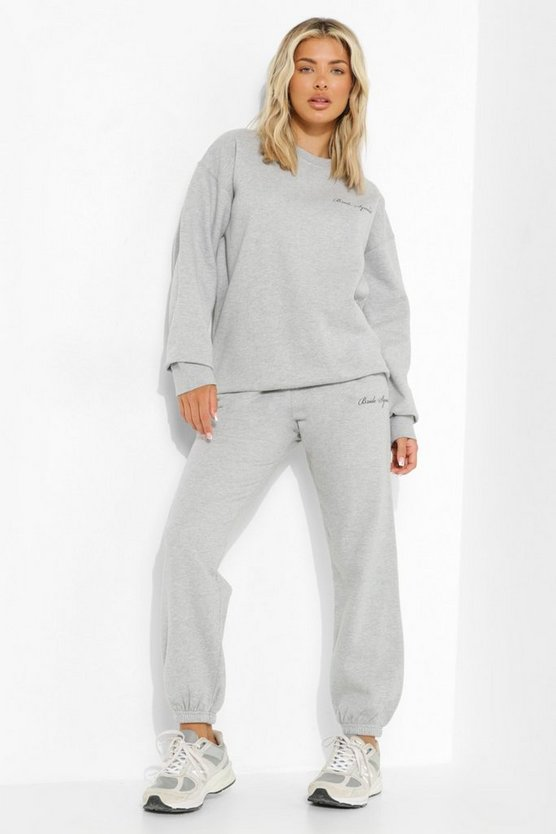 Womens Bride Squad Jogginghose - Grey Marl - M