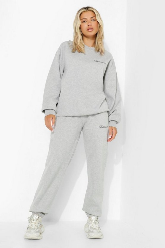 Womens Bridesmaid Jogginghose - Grey Marl - M