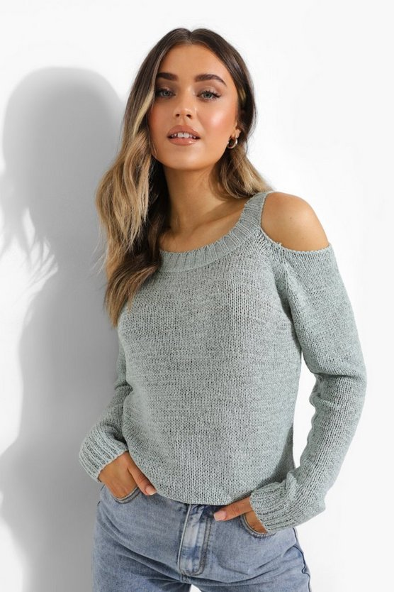 Womens Cut-Out Pullover - Sage - M