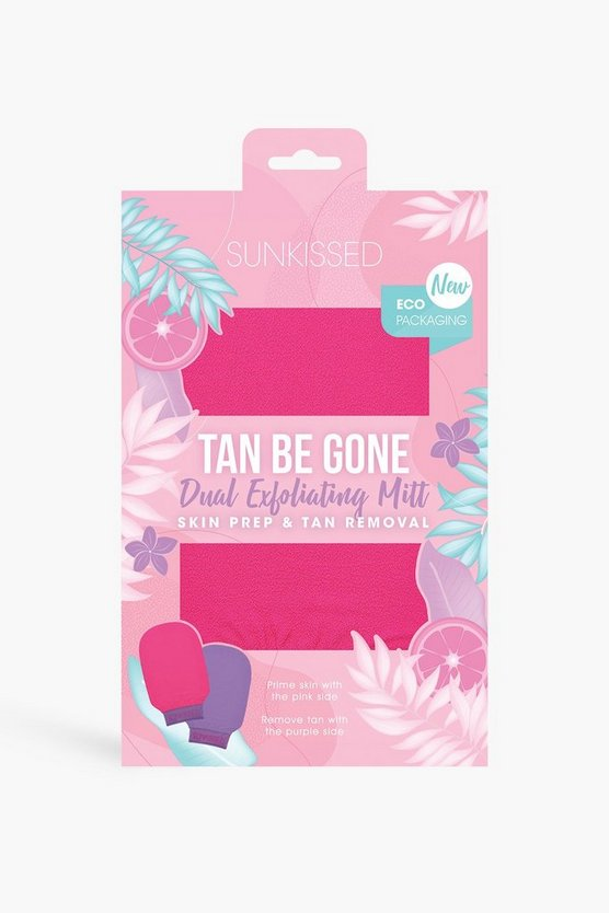 Womens Skunkissed Tan Be Gone Dual Peeling-Handschuh - Hot Pink - One Size