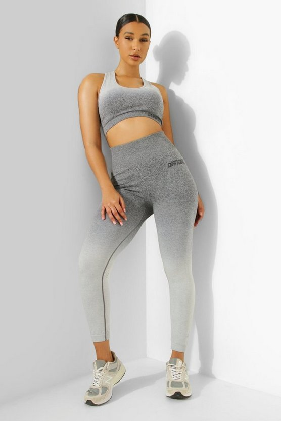 Womens Ombre Official Sportleggings - Grey - M