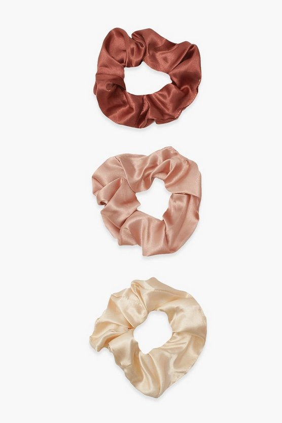 Womens 3Er-Pack Satin-Scrunchies - Multi - One Size
