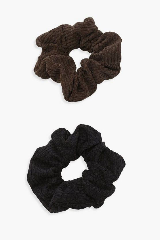 Womens 2Er-Pack Cord-Scrunchies - Multi - One Size
